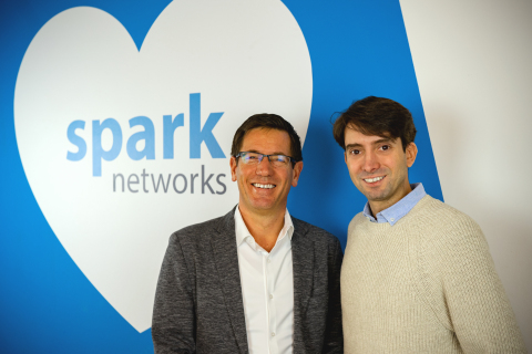 New Spark Networks CEO Erich Eichmann (left) with board director Jeronimo Folgueira (Photo: Business Wire)