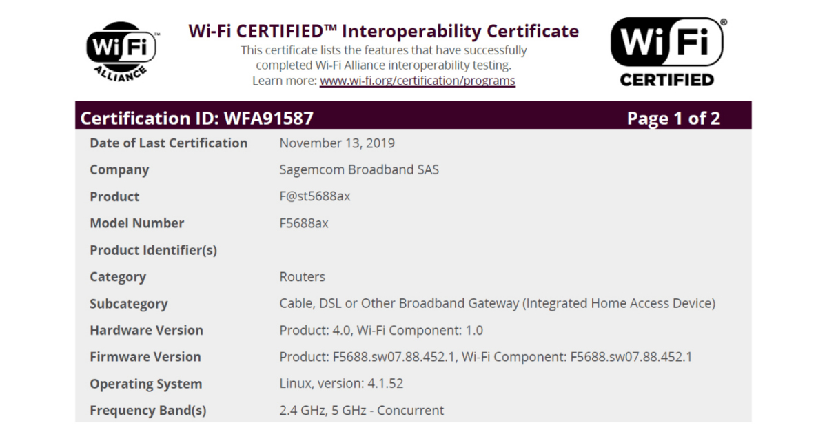 Sagemcom Meldet Erstes Fur Wi Fi 6 Zertifiziertes Home
