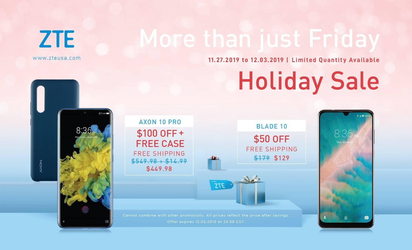 Zte Black Friday Deals Extend To Cyber Monday For Its Most