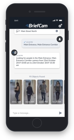 BriefCam Mobile App adds powerful on-the-go video investigation capabilities. (Photo: Business Wire)