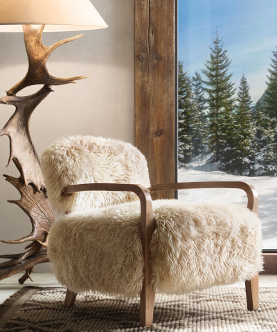 RH SKI HOUSE 2019 INTRODUCES THE YETI SHEEPSKIN COLLECTION ARMCHAIR BY TIMOTHY OULTON (Photo: Business Wire)