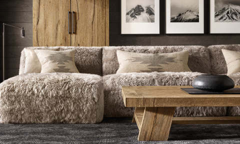 RH SKI HOUSE 2019 INTRODUCES THE DAVOS OAK COLLECTION BY NICHOLAS AND HARRISON CONDOS (Photo: Business Wire)