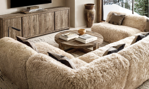 RH SKI HOUSE 2019 INTRODUCES THE YETI SHEEPSKIN COLLECTION SECTIONAL BY TIMOTHY OULTON (Photo: Business Wire)