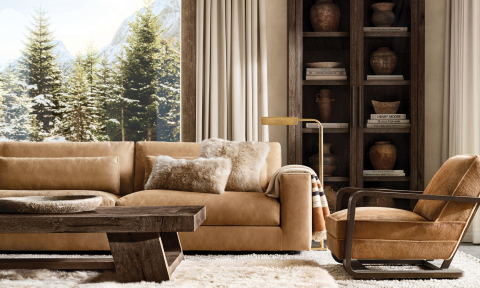 RH SKI HOUSE 2019 INTRODUCES THE LUGANO SOFA COLLECTION BY JAN TE LINTELO (Photo: Business Wire)