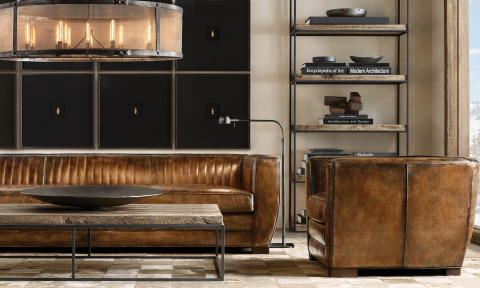 RH SKI HOUSE 2019 INTRODUCES THE ROURKE COLLECTION SOFA AND CHAIR BY ALAN PRICE (Photo: Business Wire)