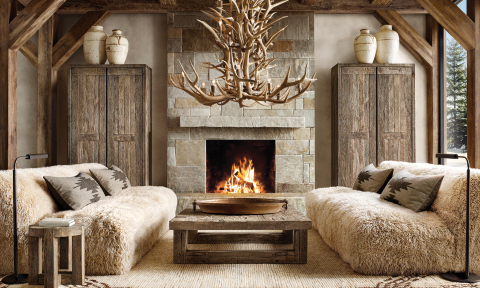 RH SKI HOUSE 2019 INTRODUCES THE YETI SHEEPSKIN COLLECTION BY TIMOTHY OULTON (Photo: Business Wire)