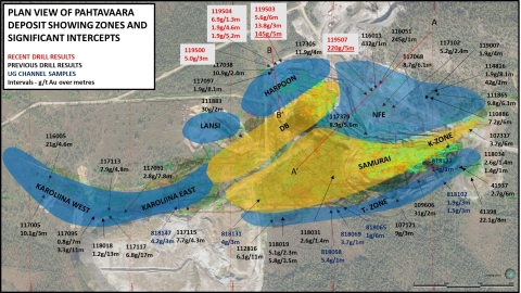 Plan view of mine exploration drilling (Photo: Business Wire)