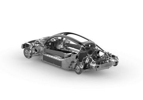 Divergent's revolutionary 3D printed chassis structure (Graphic: Business Wire)
