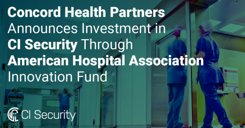 Concord Health Partners and CI Security are now working together to improve cybersecurity for hospitals and healthcare systems. (Graphic: Business Wire)
