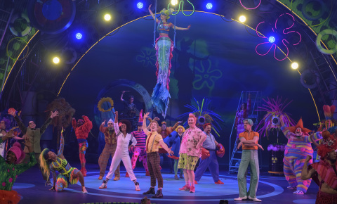 """Ethan Slater and the cast of """"The SpongeBob Musical: Live On Stage!"""" (Photo: Business Wire)"""
