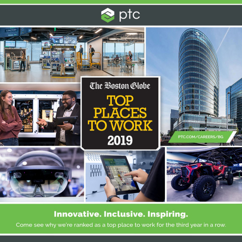 PTC Named a Top Place to Work for Third Consecutive Year (Photo: Business Wire)