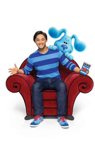 Josh (Josh Dela Cruz) and Blue from Nickelodeon's brand-new preschool series Blue's Clues & You! (Photo: Business Wire)