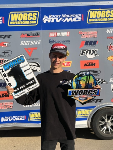 RZR Sponsored Athlete Corbin Leaverton secured the WORCS SXS Pro Stock season championship. (Photo: Polaris)