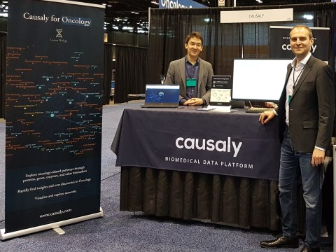 Artur Saudabayev, Causaly co-founder and CTO, and Yiannis Kiachopoulos, co-founder & CEO. (Photo: Causaly)