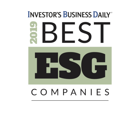 IBD's Best ESG Companies list recognizes 50 companies with superior Environmental, Social and Governance ratings in addition to strong fundamental and technical performance. (Graphic: Business Wire)