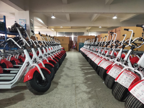 Shared's Zoomer Scooters lined up to be deployed (Photo: Business Wire)