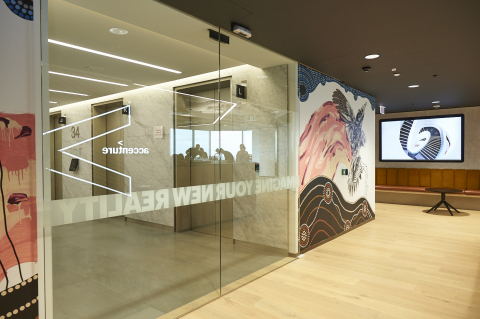 The Perth Innovation Hub features specially commissioned artwork from The Molony Brothers (Photo: Business Wire)