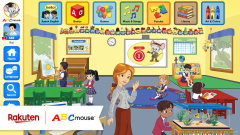 Education technology leader Age of Learning has partnered with Rakuten, Inc., to bring ABCmouse English Learning Academy to families in Japan. (Graphic: Business Wire)