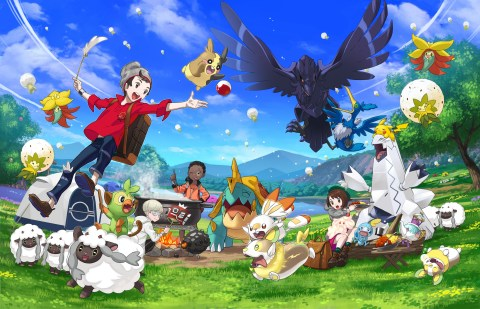 In Pokémon Sword and Pokémon Shield, players embark on a journey through the Galar region, where they'll catch, battle and trade a variety of Pokémon, meet a memorable cast of characters and unravel the mystery behind the Legendary Pokémon Zacian and Zamazenta. (Photo: Business Wire)
