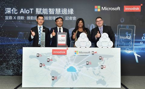 Innodisk is announcing the strategic partnership with Microsoft and push out of band management to AIoT edge devices. (Photo: Business Wire)