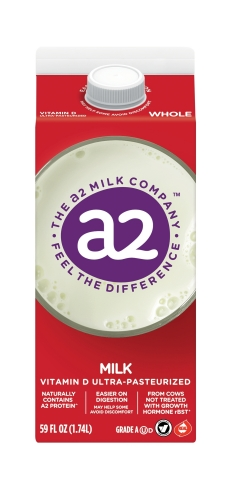 Whole milk from The a2 Milk Company (Photo: Business Wire)