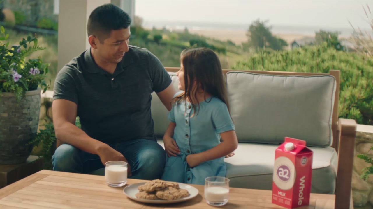 New national advertisement from The a2 Milk Company