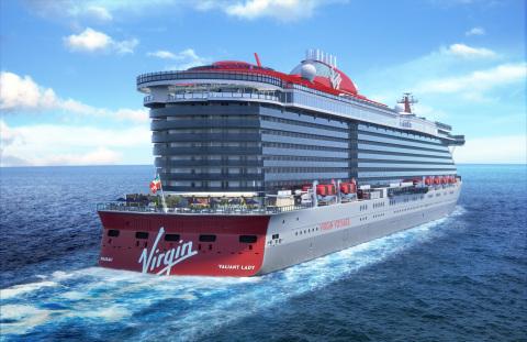 ヴァージン・ヴォヤージュ、第2船の「ヴァリアント・レディー」では地中海に狙いを定める(画像:ビジネスワイヤ)