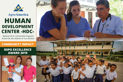"""Agroaceite, a subsidiary of AgroAmerica Tropical Oil Holding Corp. was awarded the Community Impact RSPO Excellence Award 2019 for the implementation of the """"Human Development Center"""" project (HDC). The subsidiary has donated 10ha of plantations for the construction of the project that is comprised of a Medical Clinic and school for children of workers in Southwestern Guatemala. """"It reflects the company´s comprehensive vision to provide access to high-quality education & health coverage,"""" Gustavo Bolaños -AgroAmerica COO- (Photo: Business Wire)"""
