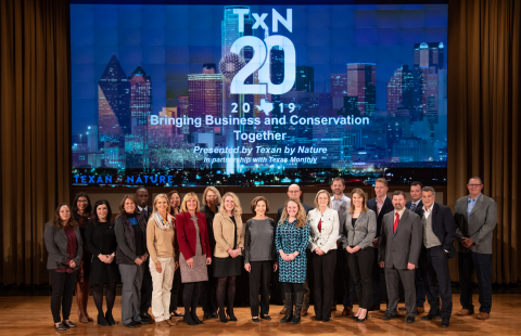 At the Texan by Nature 20 Summit in Dallas, hosted by the non-profit's founder First Lady Laura Bush, American Campus Communities was honored as a TxN 20 company for making a demonstrative commitment to conservation and sustainability. (Photo: Business Wire)
