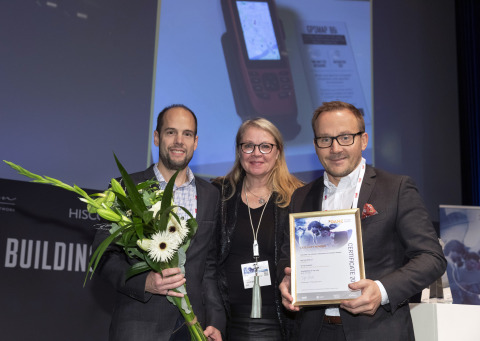 The Garmin Force trolling motor and the GPSMAP 86i marine handheld with inReach® satellite communication capabilities received top DAME accolades in their respective categories at the METSTRADE show in Amsterdam, Netherlands, Nov. 19-21, 2019. Photo credit: METSTRADE