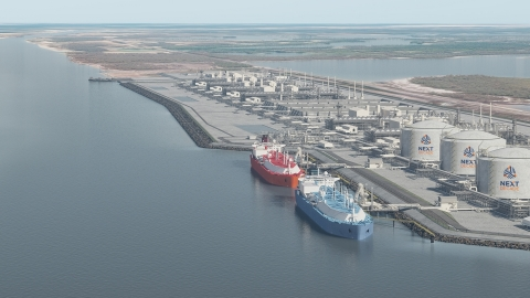 Artist Rendering of the Rio Grande LNG project (Photo: Business Wire)