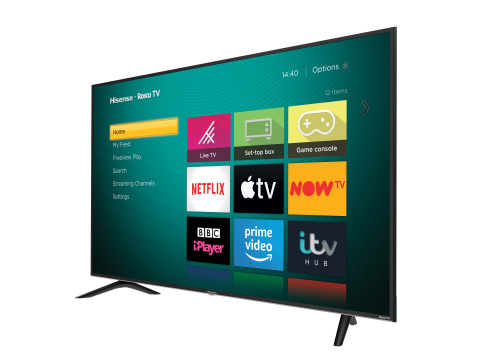 Hisense Roku TV - UK (Photo: Business Wire)