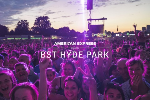 AEG, the world's leading sports and live entertainment company, today announced that American Express will be the new presenting partner for AEG's leading European festival, BST Hyde Park in London. (Graphic: Business Wire)