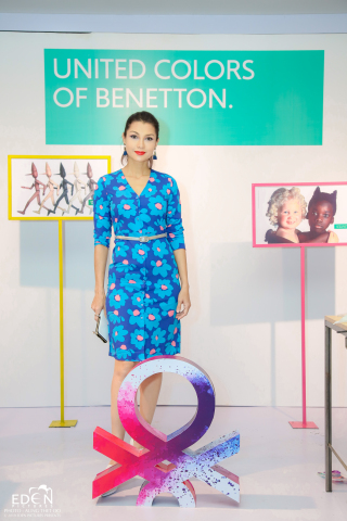Thandar Hlaing at the launch of the AW2019 collection of UCB in Junction City at Yangon, Myanmar (Photo: Business Wire)