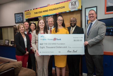 Home Bank and FHLB Dallas awarded $8K in grant funds to The CEO Mind Foundation to help support science, technology, engineering, arts and math programming in Baton Rouge. (Photo: Business Wire)