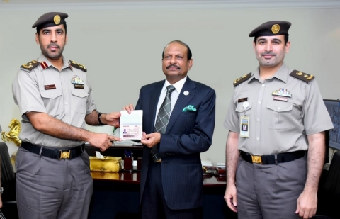 Lulu Group Chairman Yussuf Ali first to be handed the gold card residency (Photo: AETOSWire)