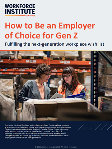 A report from The Workforce Institute at Kronos: How to Be an Employer of Choice for Gen Z - Fulfilling the next-generation workplace wish list (Graphic: Business Wire)