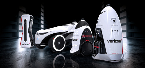 Knightscope autonomous security robots preparing for 5G duty. (Photo: Business Wire)