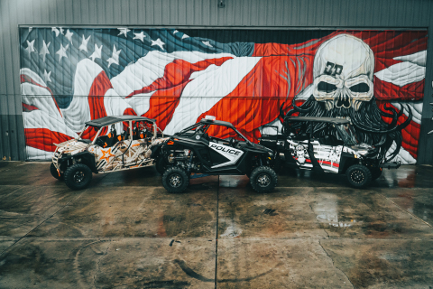 Polaris United We Ride custom U.S. military, law enforcement and first responder machines. (Photo: Business Wire)