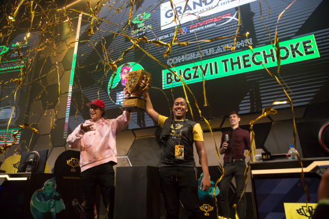 "Daryl ""Bugzvii"" John, 20, of Brooklyn, N.Y., won the inaugural Simon Cup at HyperX Esports Arena Las Vegas. (Photo: Christopher DeVargas/Allied Esports)"