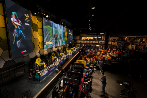HyperX Esports Arena Las Vegas hosted the Grand Final of the Simon Cup, a national esports competition, featuring 64 top amateur Fortnite players. (Photo: Christopher DeVargas/Allied Esports)