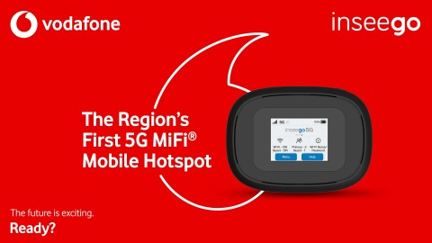 5G MiFi(R) by Inseego - The FIRST 5G Mobile Hotspot in Qatar, available only through Vodafone Qatar. (Graphic: Business Wire)