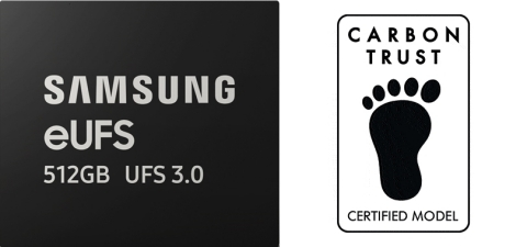 Samsung 512GB eUFS 3.0 mobile memory - Carbon Trust certification (Graphic: Business Wire)