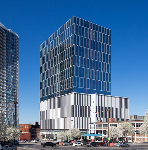 Kovach Enclosure Systems, LLC completed the facade for 222 2nd Ave. Nashville, a 25-story mixed use building. (Photo: Business Wire)