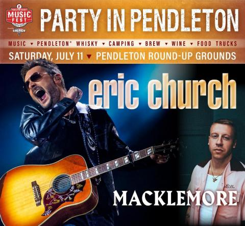 Country Superstar Eric Church to Headline the Pendleton® Whisky Music Fest (Photo: Business Wire)