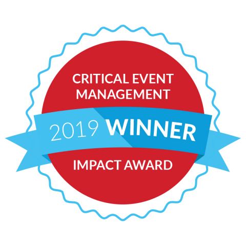 Everbridge Announces 2019 Critical Event Management Impact Award Winners (Graphic: Business Wire)