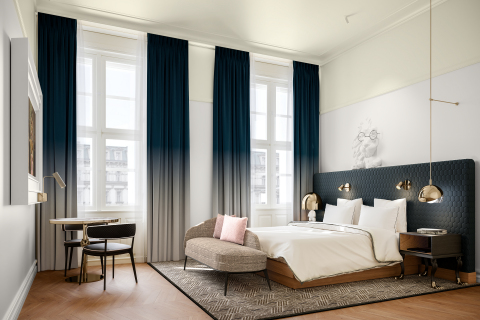 Andaz Prague guestroom rendering (Photo: Business Wire)