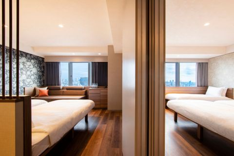 High Floor Superior Twin with Sofa Bed connecting rooms: Floor area 25.0 square meters each (Photo: Business Wire)
