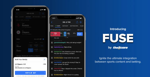 theScore Unveils FUSE: New Game-Changing Integrations Between theScore and theScore Bet. (Photo: Business Wire)