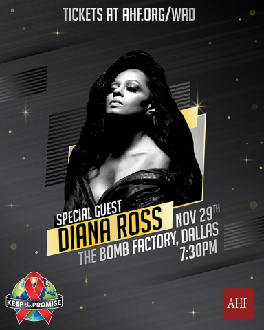 AHF's 2019 World AIDS Day concert will feature special guest Diana Ross (Graphic: Business Wire)